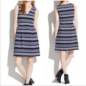 Madewell Gallerist Ponte Striped Dress Small 08737
